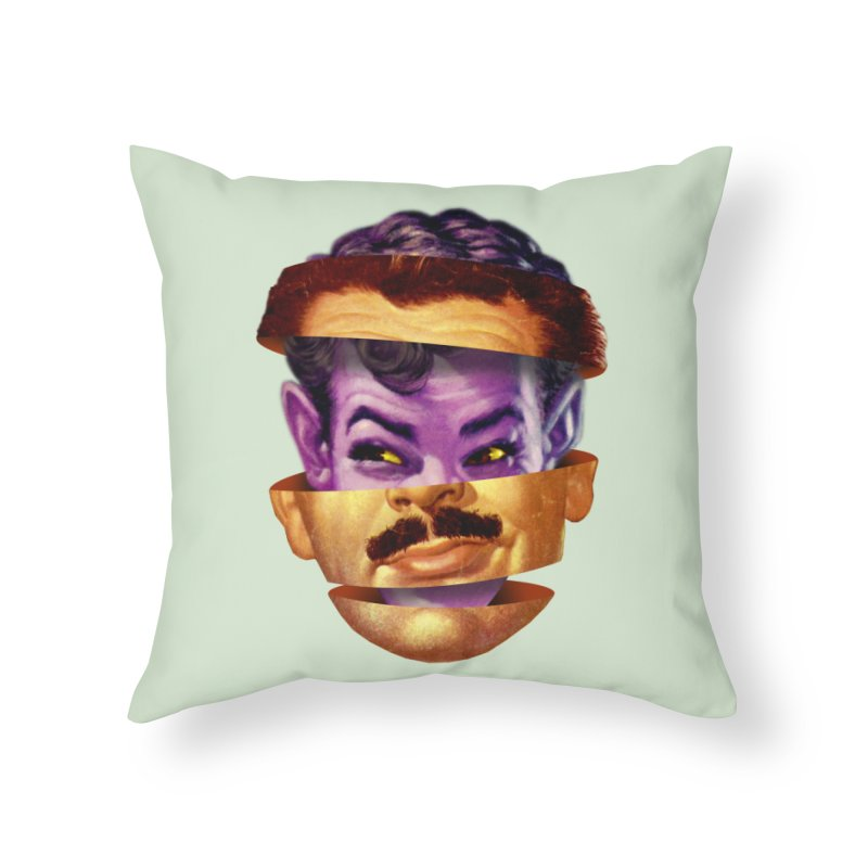 Purple Man Home Throw Pillow by Tom Burns