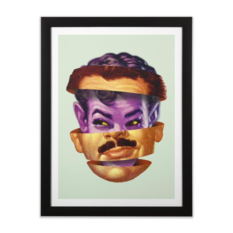 Purple Man Home Framed Fine Art Print by Tom Burns