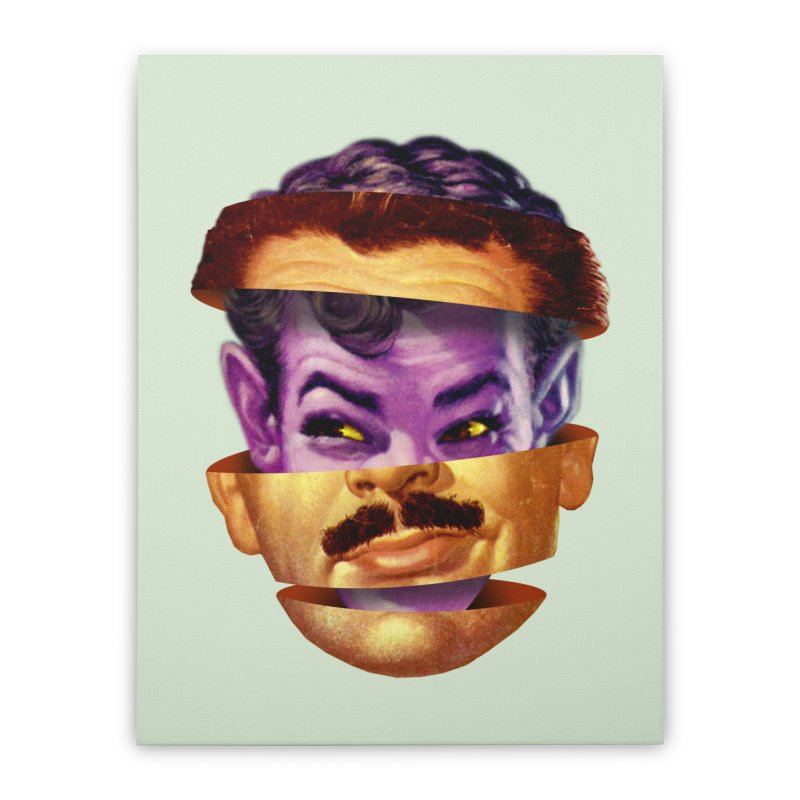 Purple Man Home Stretched Canvas by Tom Burns
