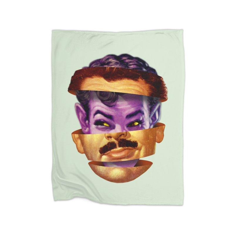 Purple Man Home Fleece Blanket Blanket by Tom Burns
