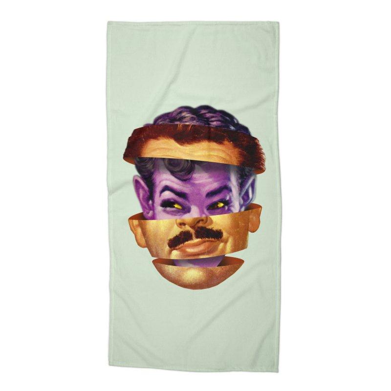 Purple Man Accessories Beach Towel by Tom Burns