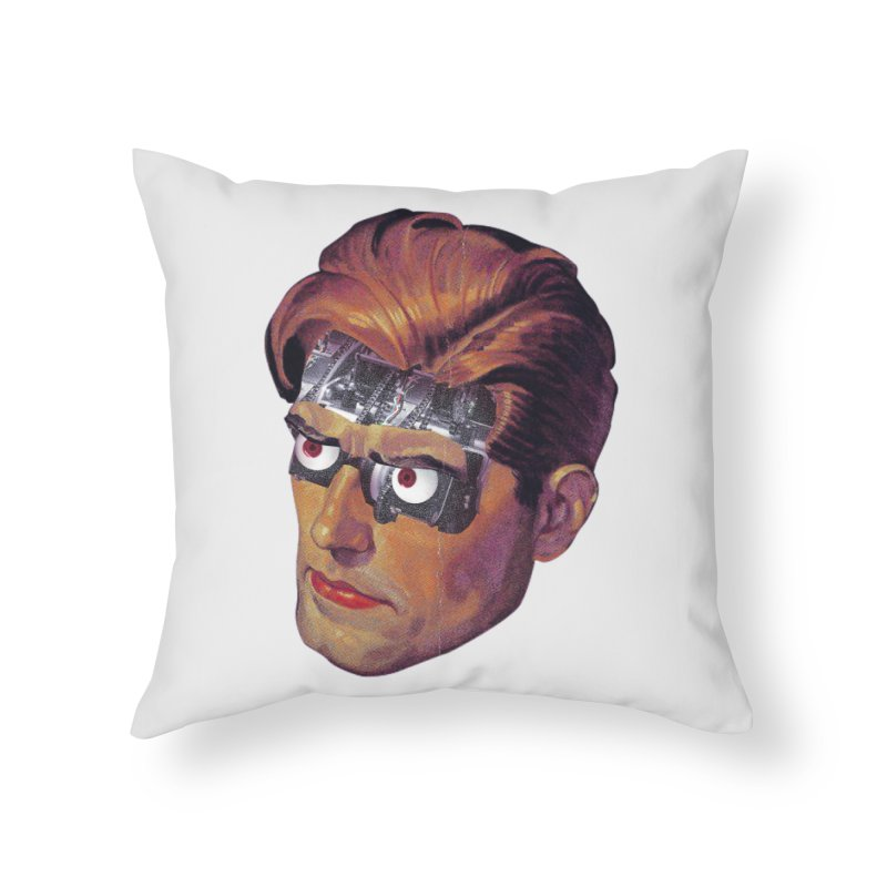 RoboDude Home Throw Pillow by Tom Burns