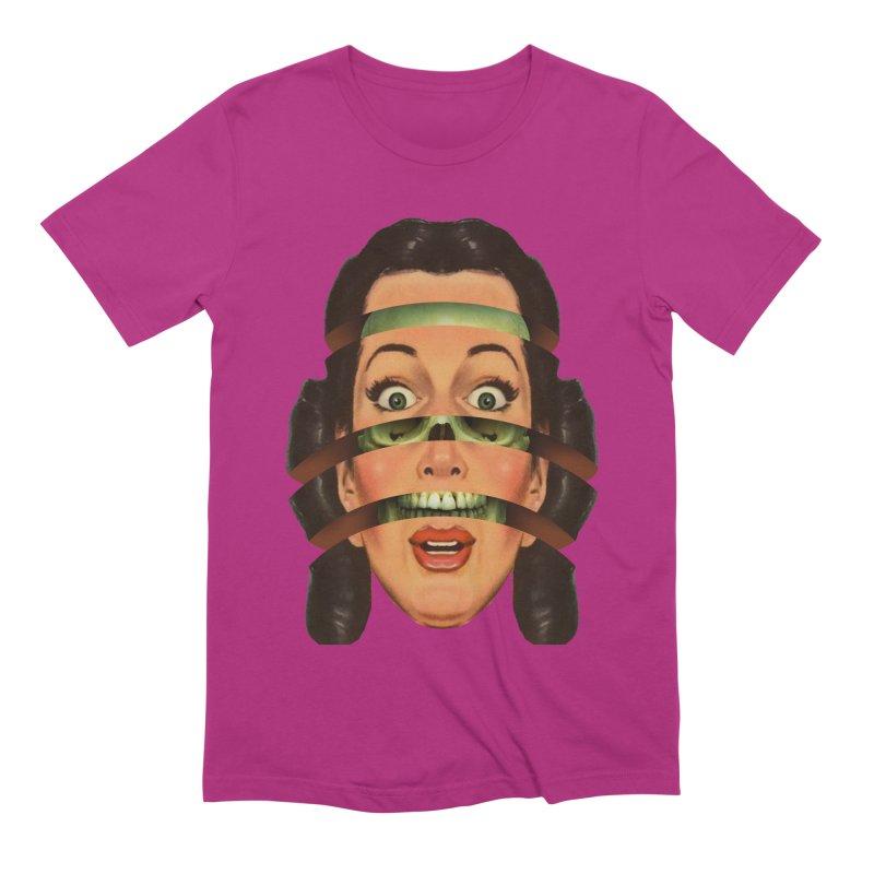 Skullhead Girl Men's Extra Soft T-Shirt by Tom Burns