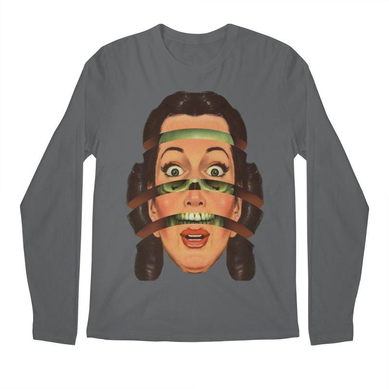 Skullhead Girl Men's Regular Longsleeve T-Shirt by Tom Burns