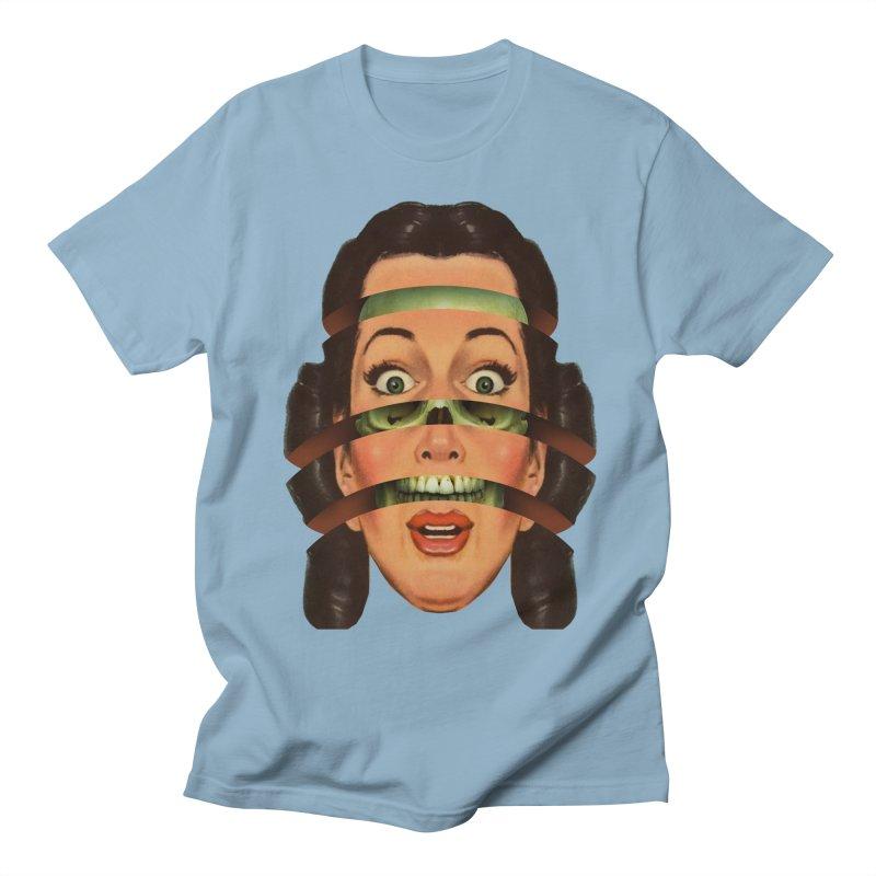 Skullhead Girl Men's Regular T-Shirt by Tom Burns