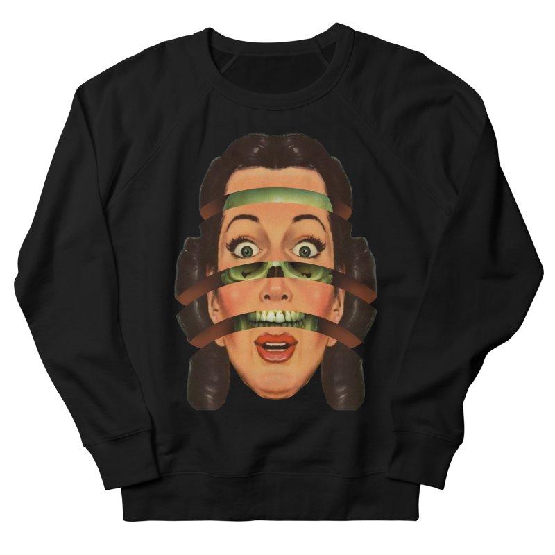 Skullhead Girl Men's French Terry Sweatshirt by Tom Burns