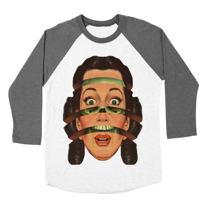 Skullhead Girl Men's Baseball Triblend Longsleeve T-Shirt by Tom Burns
