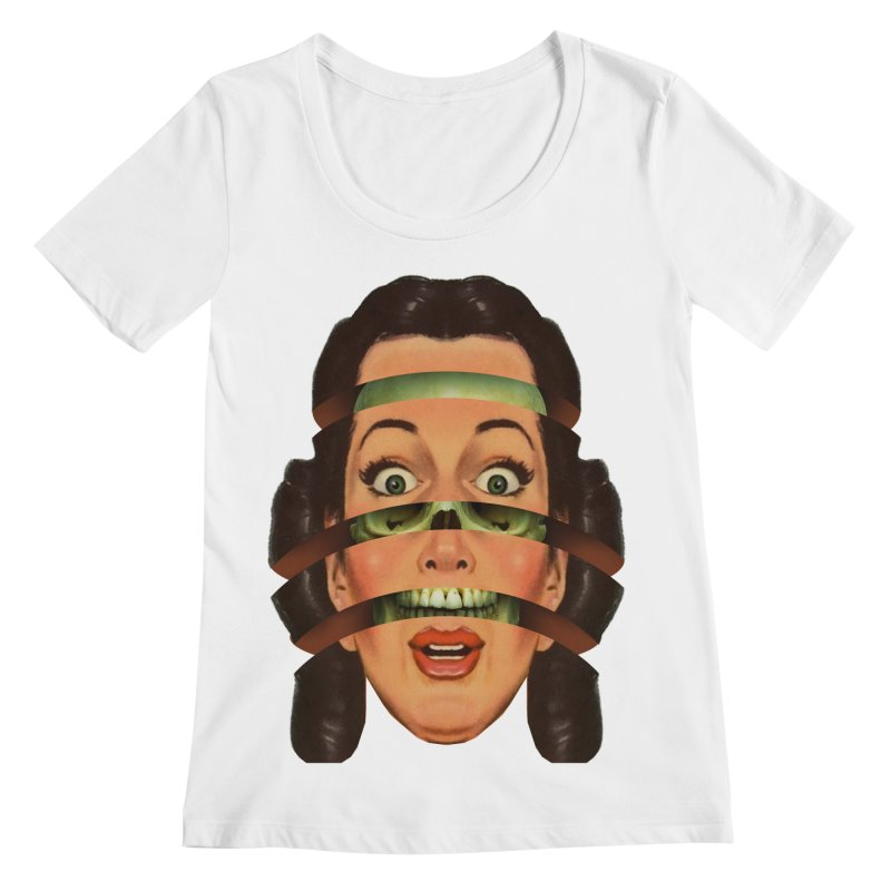 Skullhead Girl Women's Regular Scoop Neck by Tom Burns