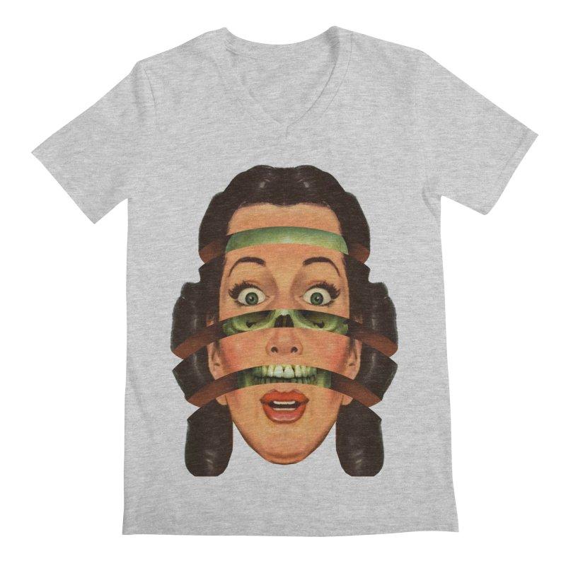 Skullhead Girl Men's Regular V-Neck by Tom Burns