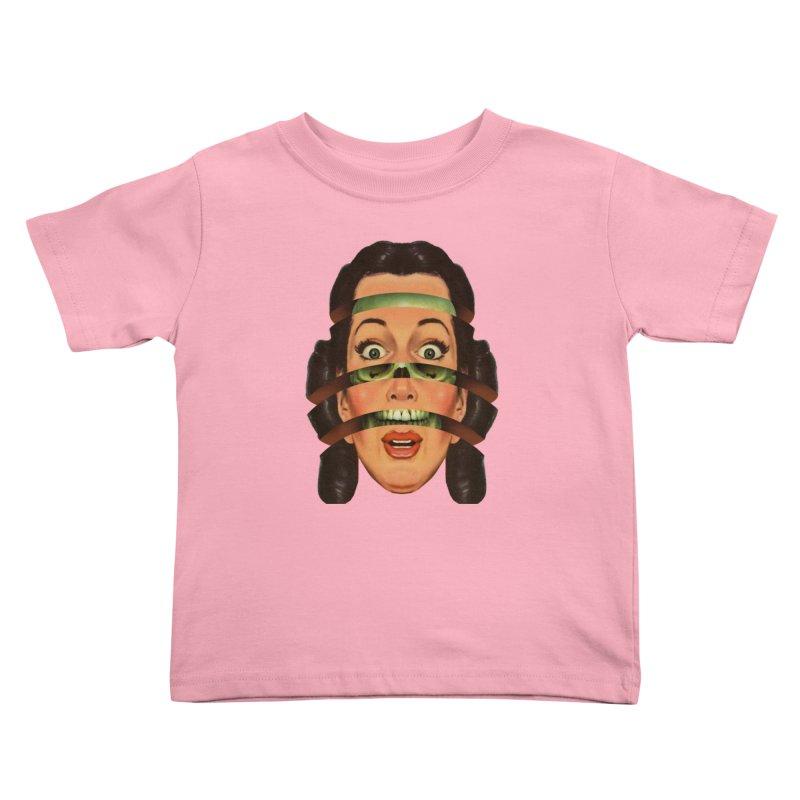 Skullhead Girl Kids Toddler T-Shirt by Tom Burns