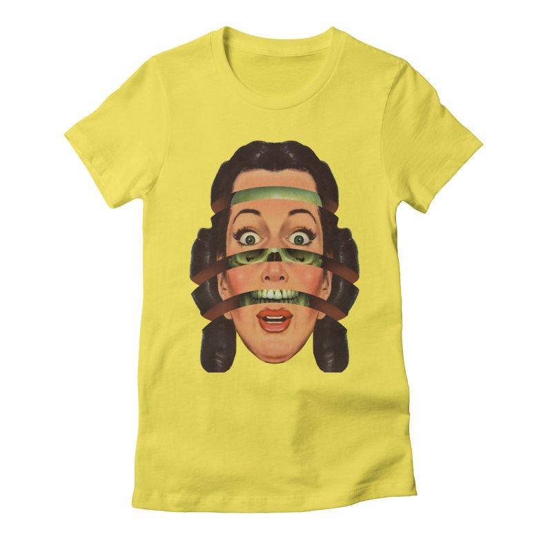 Skullhead Girl Women's Fitted T-Shirt by Tom Burns