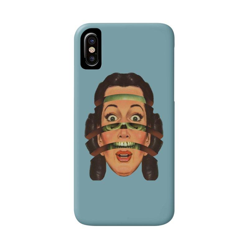 Skullhead Girl Accessories Phone Case by Tom Burns
