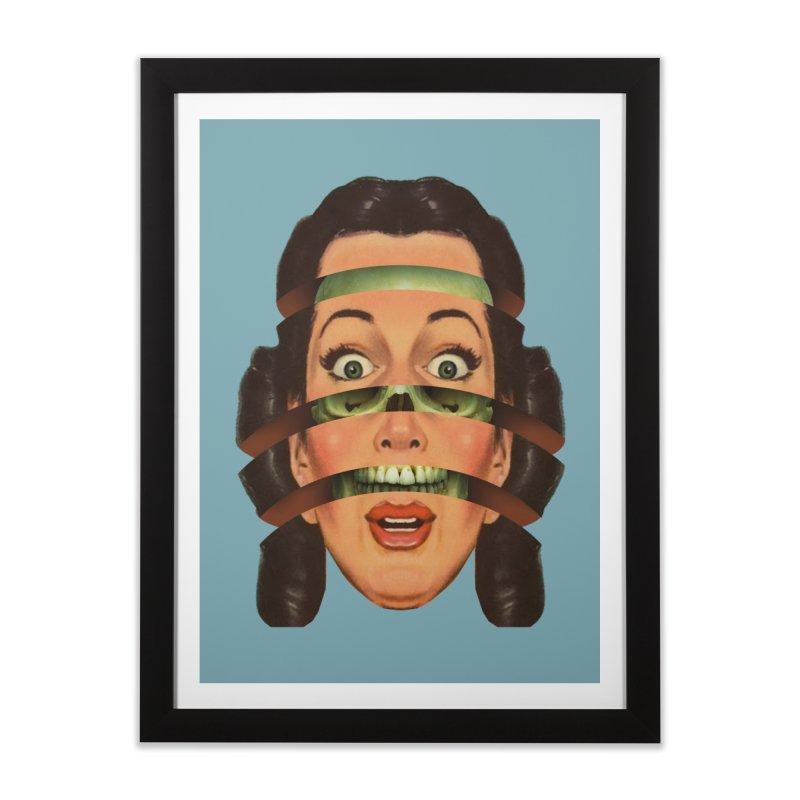 Skullhead Girl Home Framed Fine Art Print by Tom Burns
