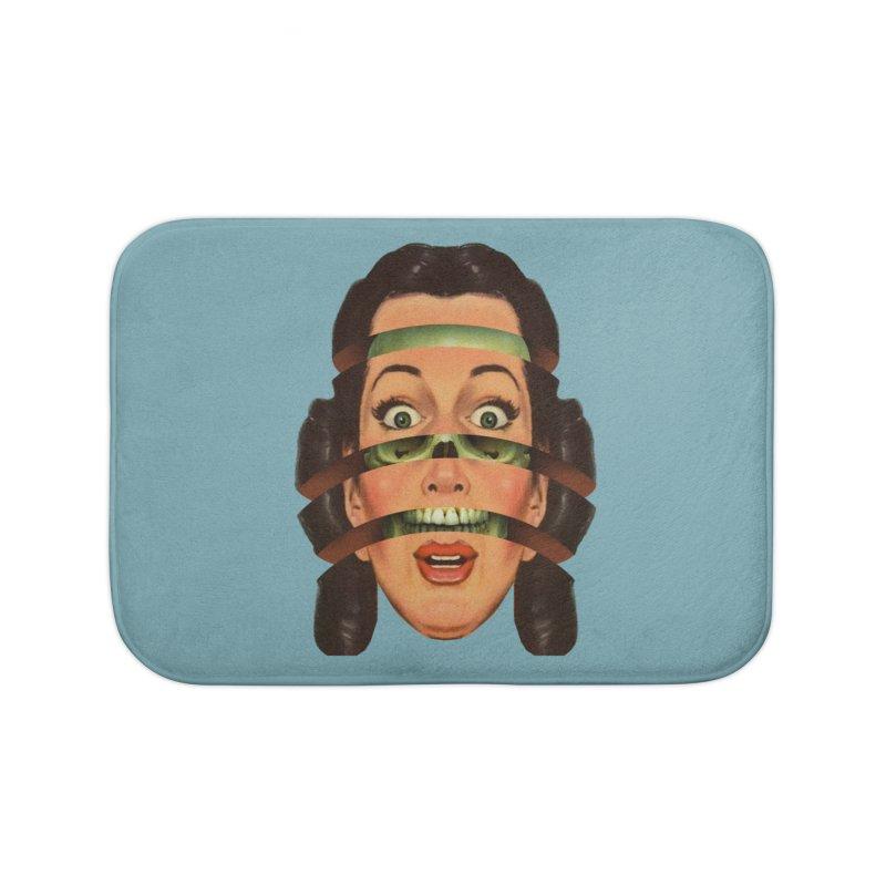 Skullhead Girl Home Bath Mat by Tom Burns