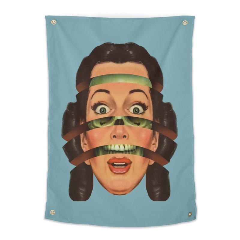 Skullhead Girl Home Tapestry by Tom Burns