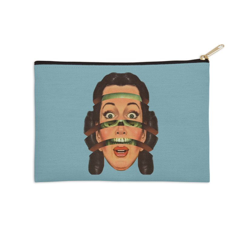 Skullhead Girl Accessories Zip Pouch by Tom Burns
