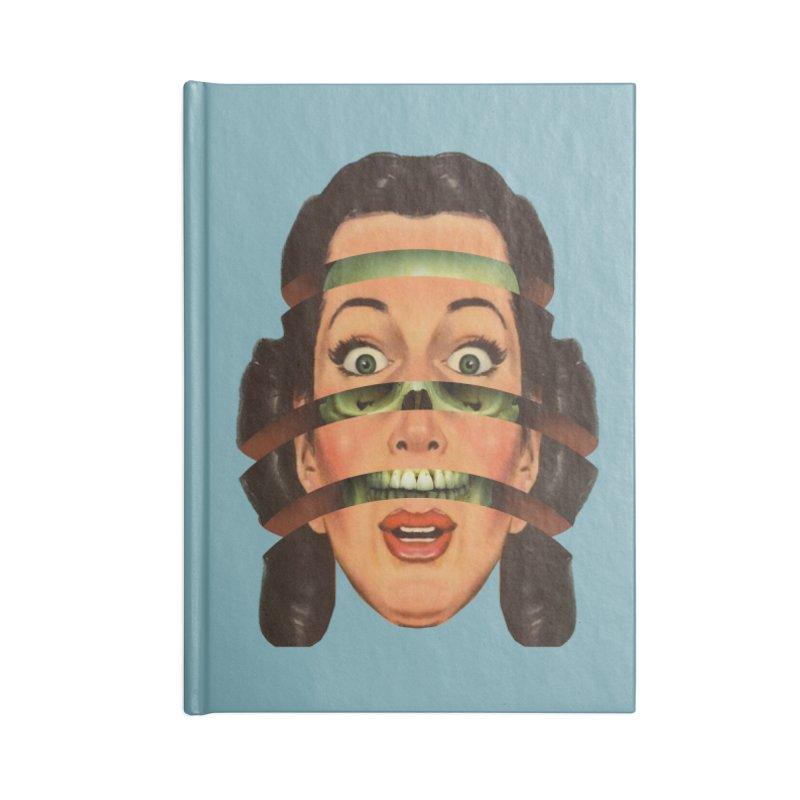 Skullhead Girl Accessories Blank Journal Notebook by Tom Burns