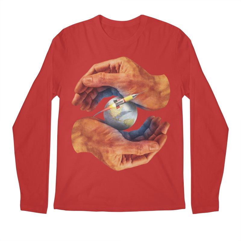 Space Hands Men's Regular Longsleeve T-Shirt by Tom Burns
