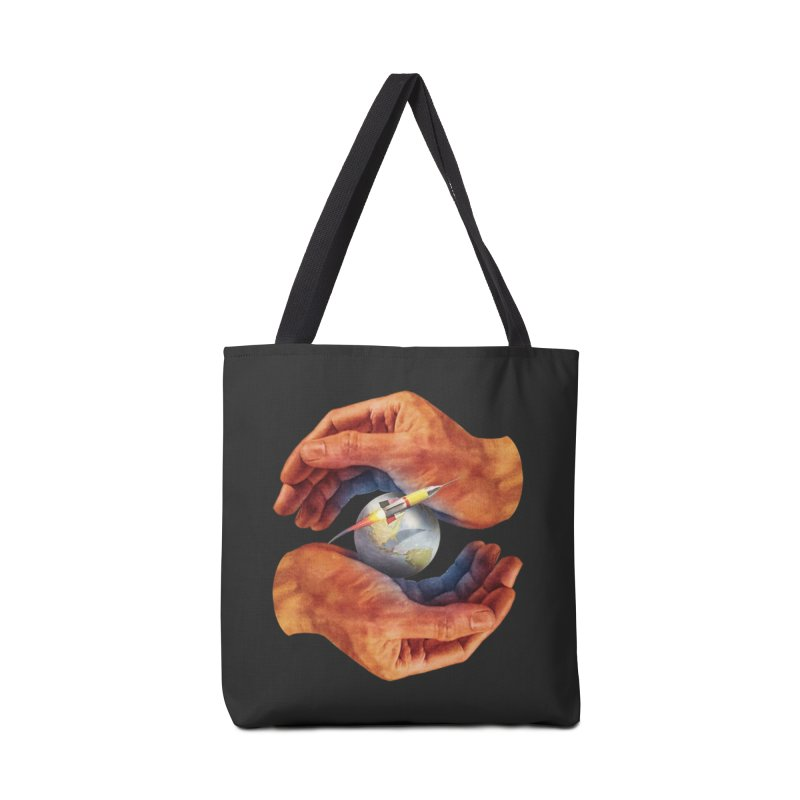 Space Hands Accessories Tote Bag Bag by Tom Burns