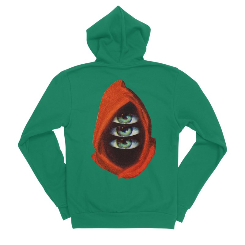 Three Eyed Druid Men's Sponge Fleece Zip-Up Hoody by Tom Burns