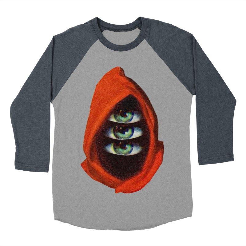 Three Eyed Druid Men's Baseball Triblend Longsleeve T-Shirt by Tom Burns