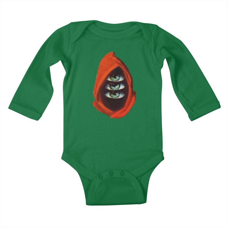 Three Eyed Druid Kids Baby Longsleeve Bodysuit by Tom Burns