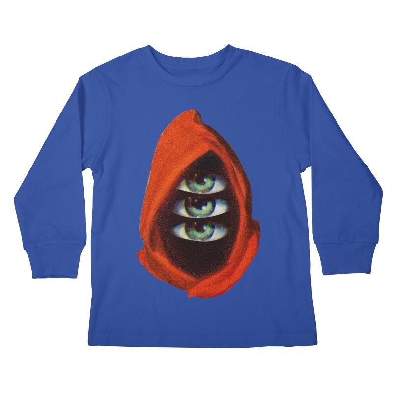 Three Eyed Druid Kids Longsleeve T-Shirt by Tom Burns