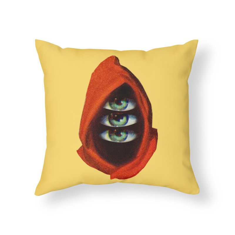 Three Eyed Druid Home Throw Pillow by Tom Burns