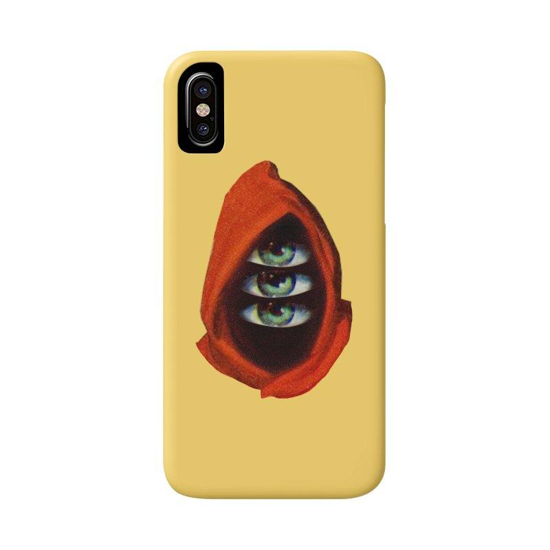 Three Eyed Druid Accessories Phone Case by Tom Burns