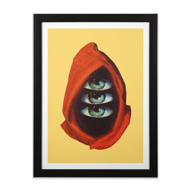 Three Eyed Druid Home Framed Fine Art Print by Tom Burns