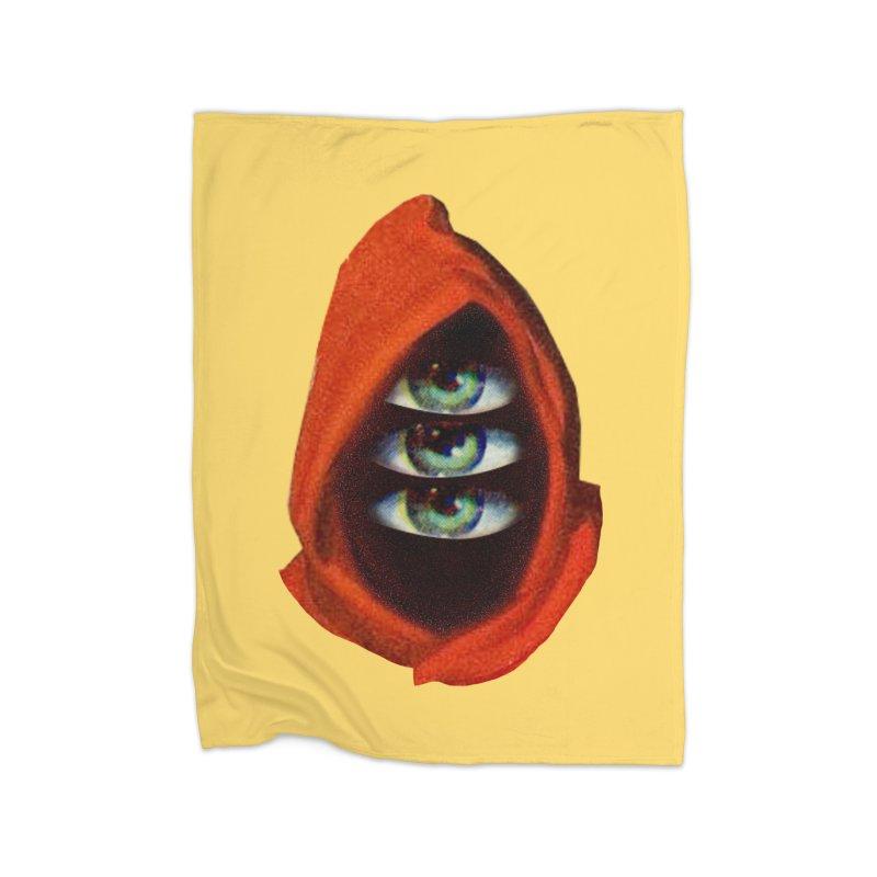 Three Eyed Druid Home Fleece Blanket Blanket by Tom Burns