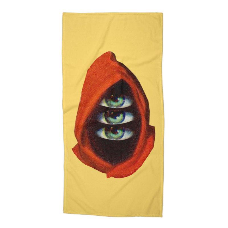 Three Eyed Druid Accessories Beach Towel by Tom Burns
