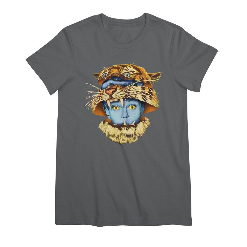 Tiger Lady Women's Premium T-Shirt by Tom Burns
