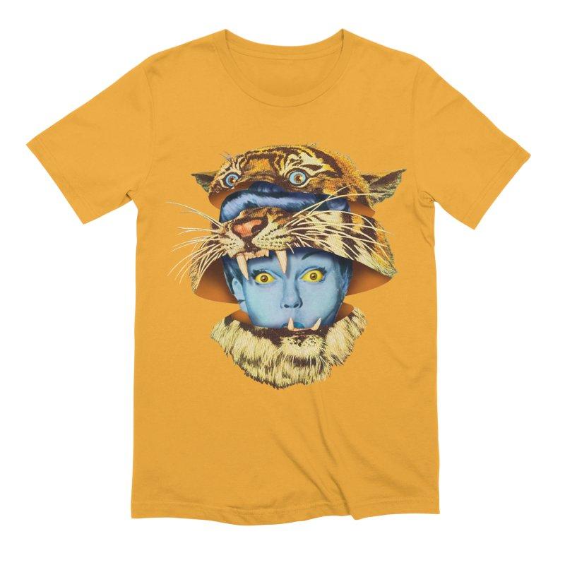 Tiger Lady Men's Extra Soft T-Shirt by Tom Burns