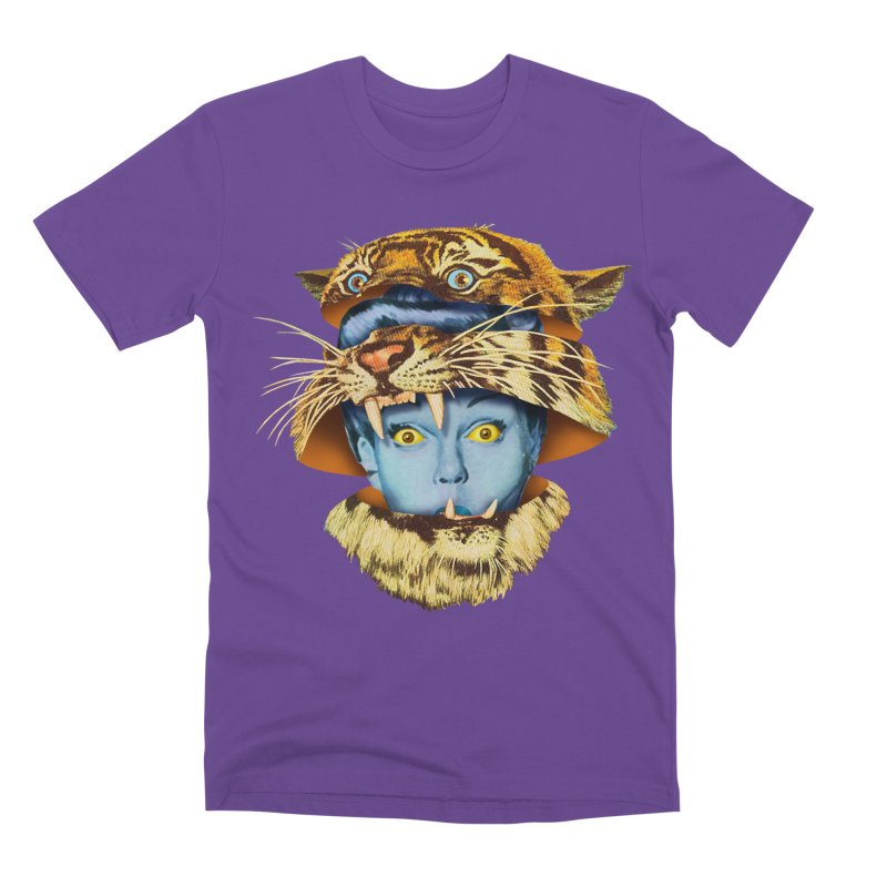 Tiger Lady Men's Premium T-Shirt by Tom Burns
