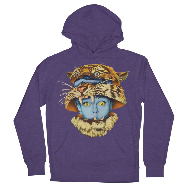 Tiger Lady Women's French Terry Pullover Hoody by Tom Burns