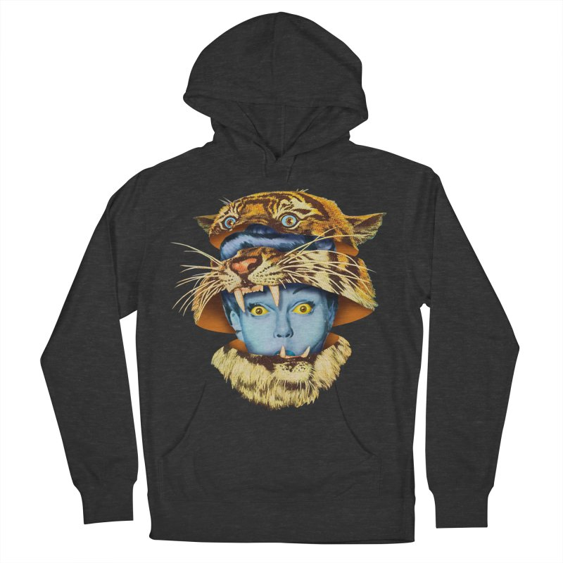 Tiger Lady Men's French Terry Pullover Hoody by Tom Burns