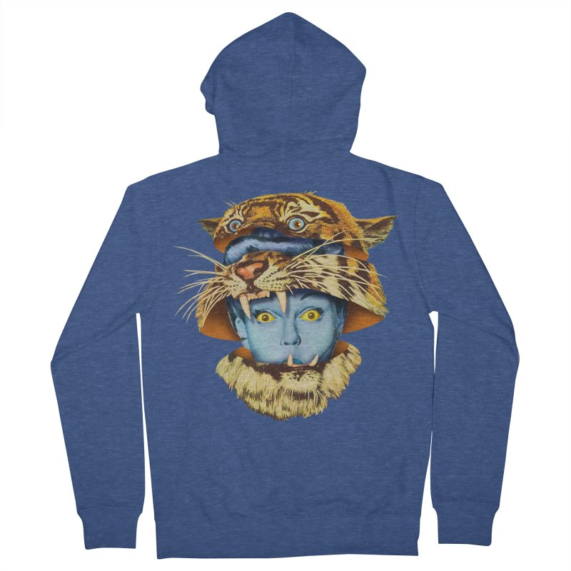 Tiger Lady Women's French Terry Zip-Up Hoody by Tom Burns