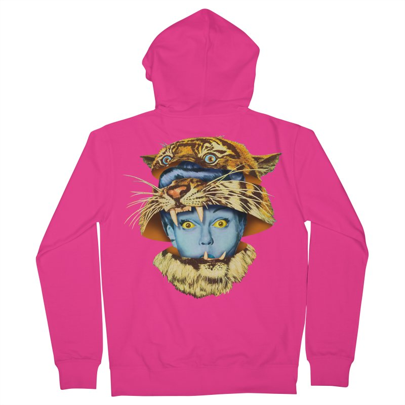 Tiger Lady Men's French Terry Zip-Up Hoody by Tom Burns