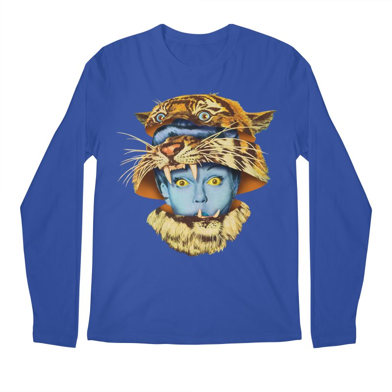 Tiger Lady Men's Regular Longsleeve T-Shirt by Tom Burns