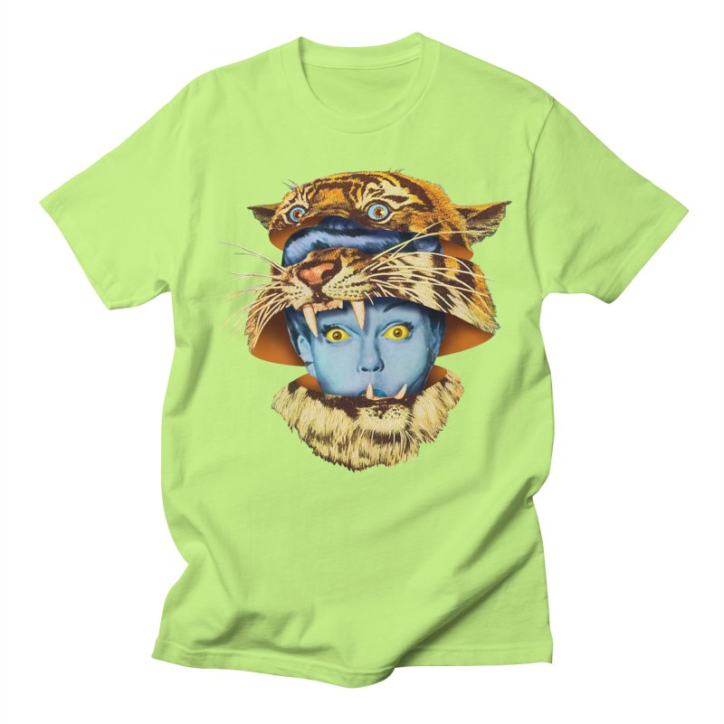 Tiger Lady Men's Regular T-Shirt by Tom Burns