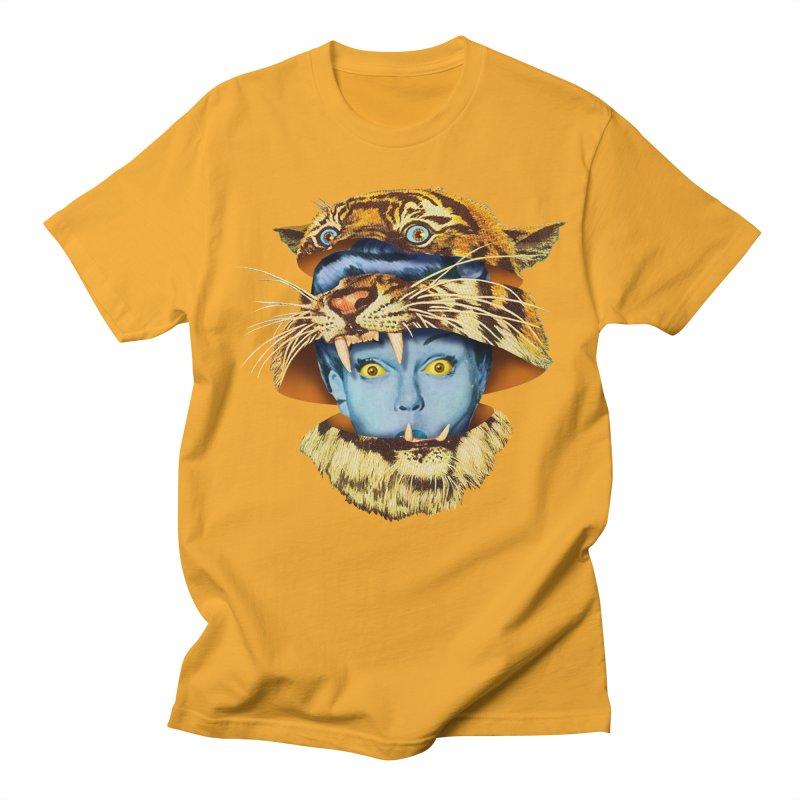 Tiger Lady Women's Regular Unisex T-Shirt by Tom Burns
