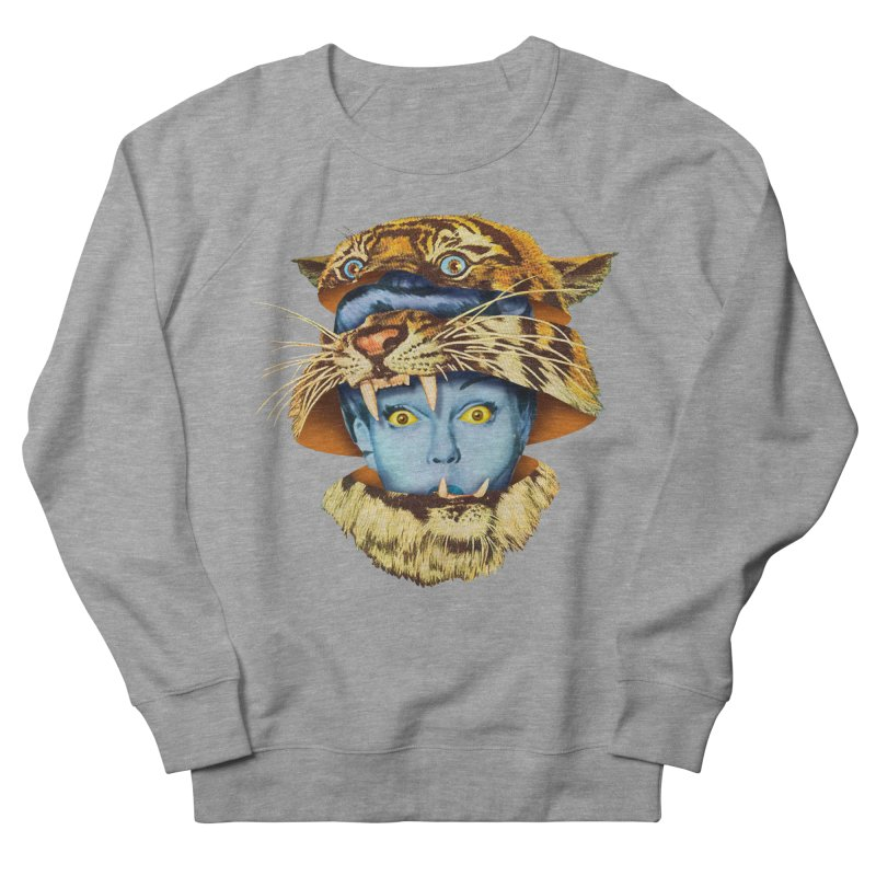 Tiger Lady Women's French Terry Sweatshirt by Tom Burns