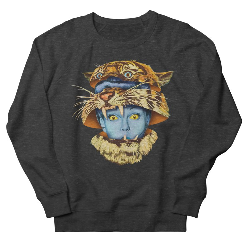 Tiger Lady Men's French Terry Sweatshirt by Tom Burns