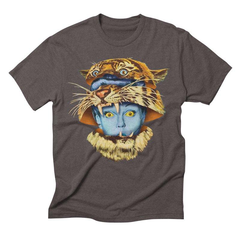 Tiger Lady Men's Triblend T-Shirt by Tom Burns