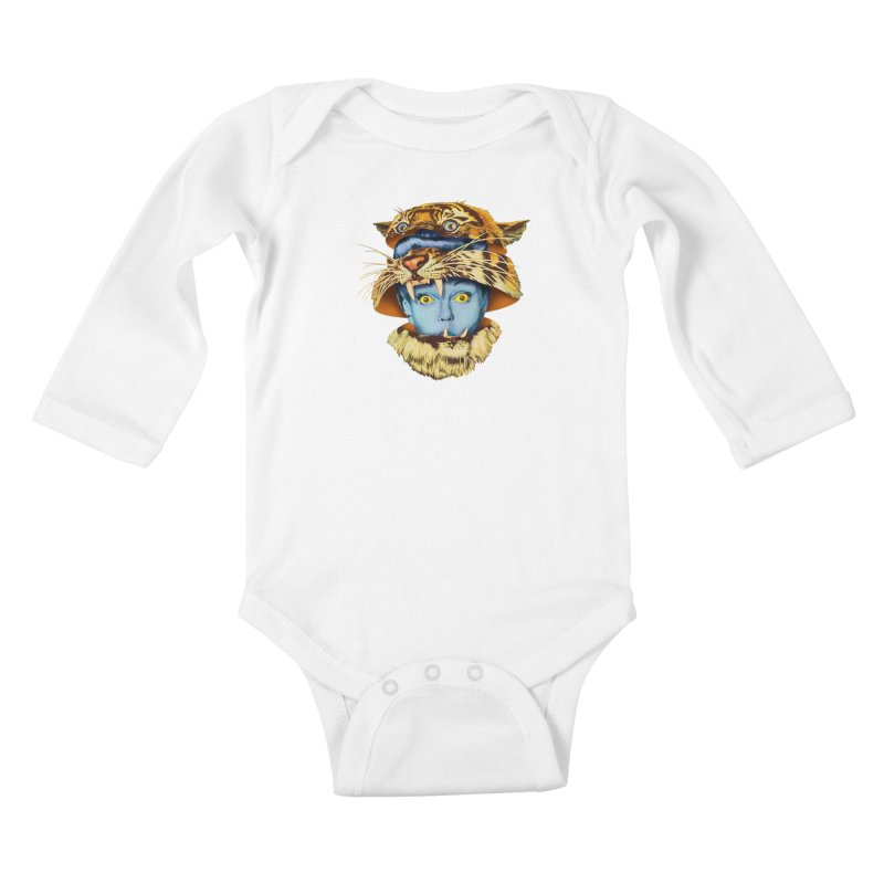 Tiger Lady Kids Baby Longsleeve Bodysuit by Tom Burns
