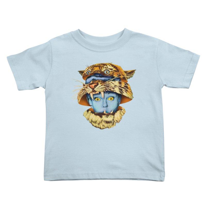 Tiger Lady Kids Toddler T-Shirt by Tom Burns