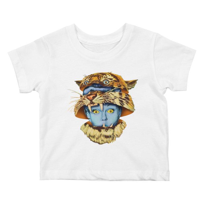 Tiger Lady Kids Baby T-Shirt by Tom Burns