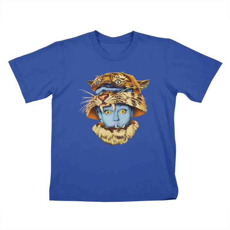 Tiger Lady Kids T-Shirt by Tom Burns