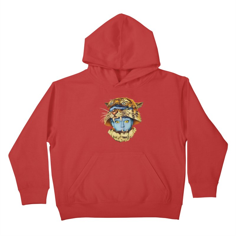 Tiger Lady Kids Pullover Hoody by Tom Burns